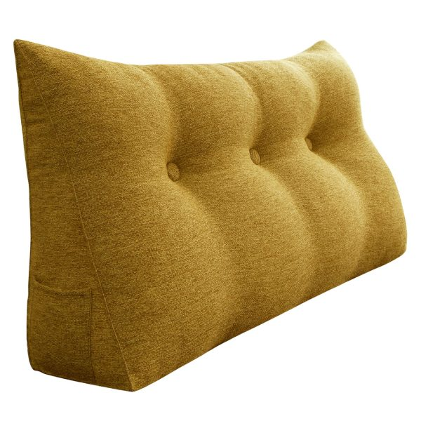 Reading pillow 39inch yellow 01
