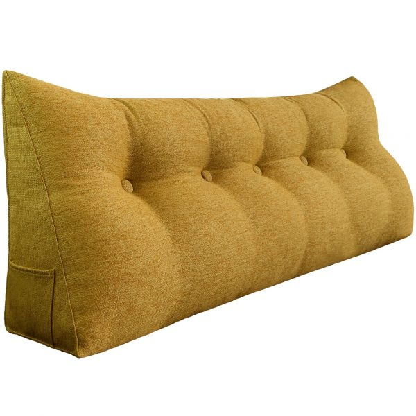 Reading pillow 59inch yellow 01