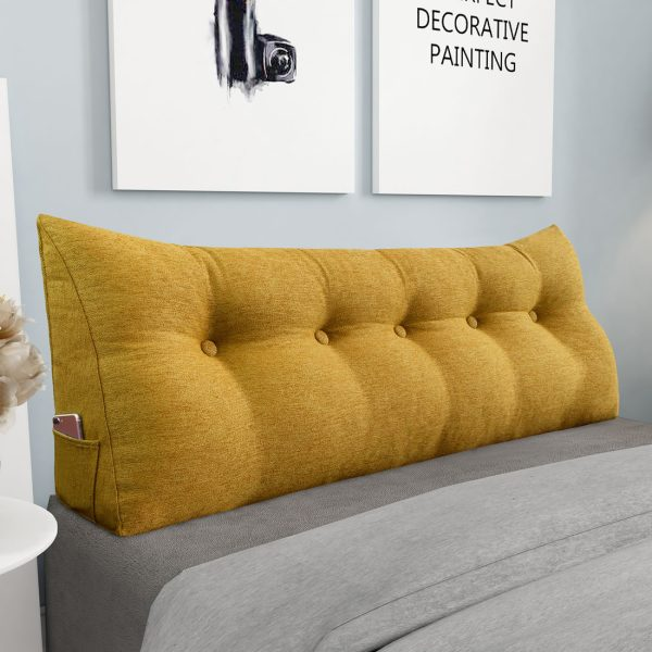 Reading pillow 59inch yellow 02