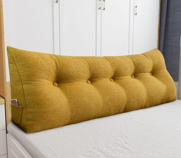 Reading pillow 59inch yellow 04