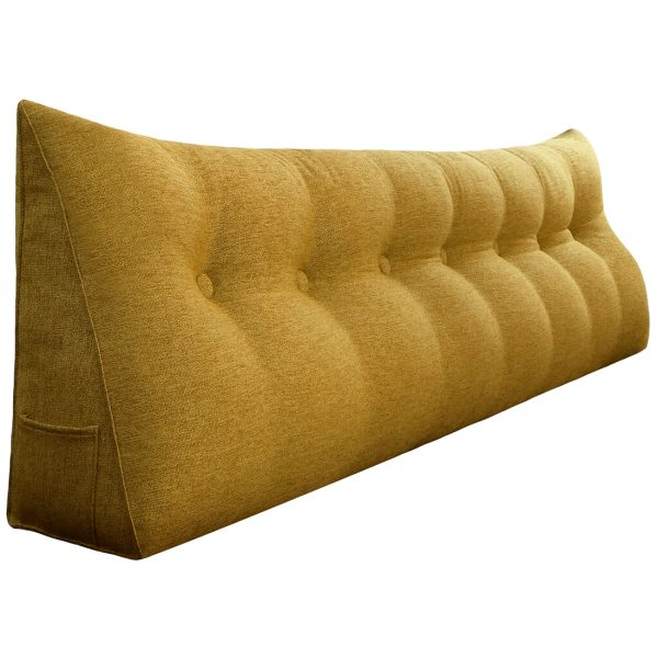 Reading pillow 76inch yellow 01