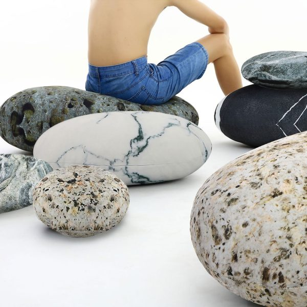 rock pillow pebble pillow 9012 stone pillow