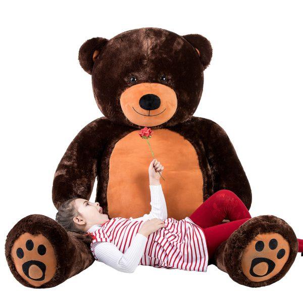 Daney teddy bear 6foot dark brown 001