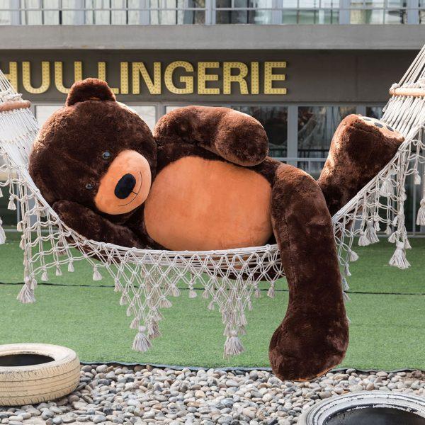 Daney teddy bear 6foot dark brown 002