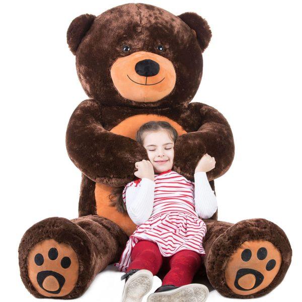 Daney teddy bear 6foot dark brown 003