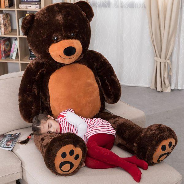 Daney teddy bear 6foot dark brown 005