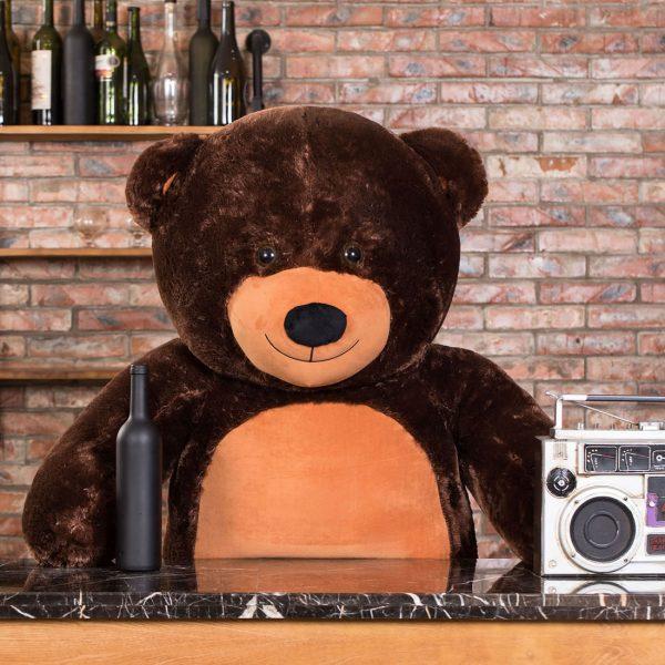 Daney teddy bear 6foot dark brown 006