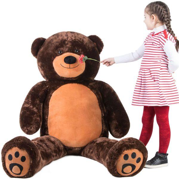 Daney teddy bear 6foot dark brown 007