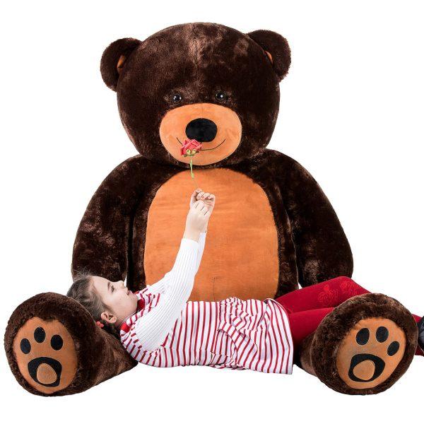 Daney teddy bear 6foot dark brown 014