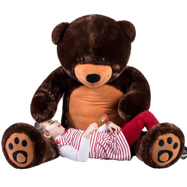 Daney teddy bear 6foot dark brown 015