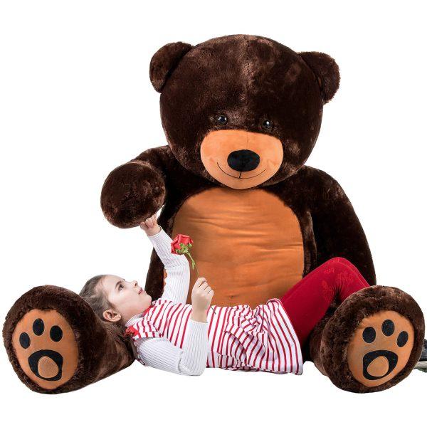 Daney teddy bear 6foot dark brown 016
