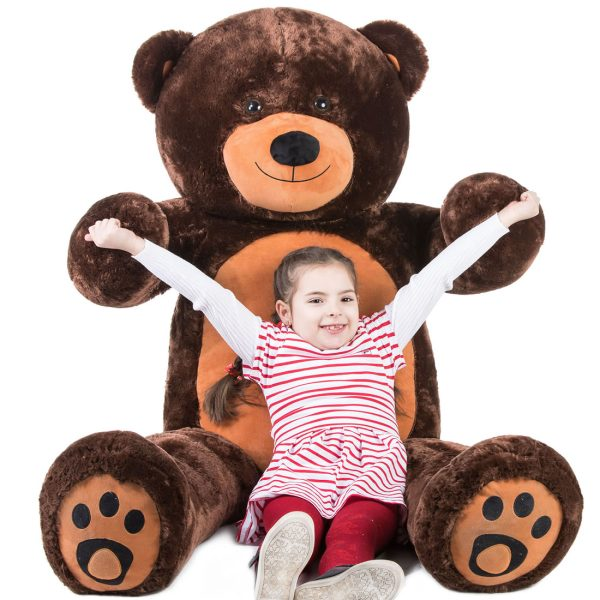Daney teddy bear 6foot dark brown 018
