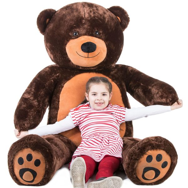 Daney teddy bear 6foot dark brown 019