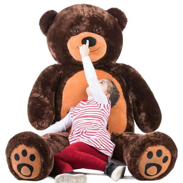 Daney teddy bear 6foot dark brown 020