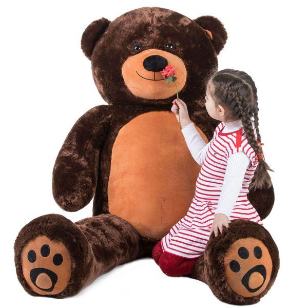 Daney teddy bear 6foot dark brown 021
