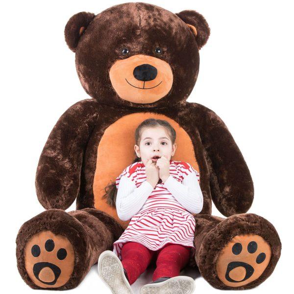 Daney teddy bear 6foot dark brown 022