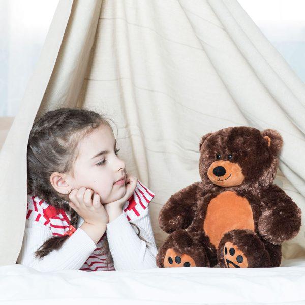 Daney teddy bear 25 dark brown 001