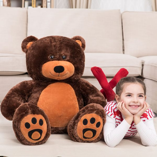 Daney teddy bear 3foot dark brown 001