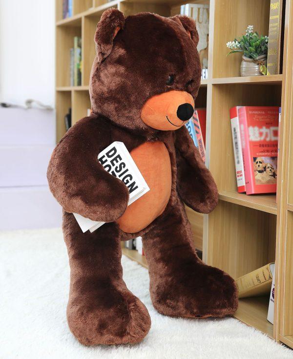 Daney teddy bear 3foot dark brown 002