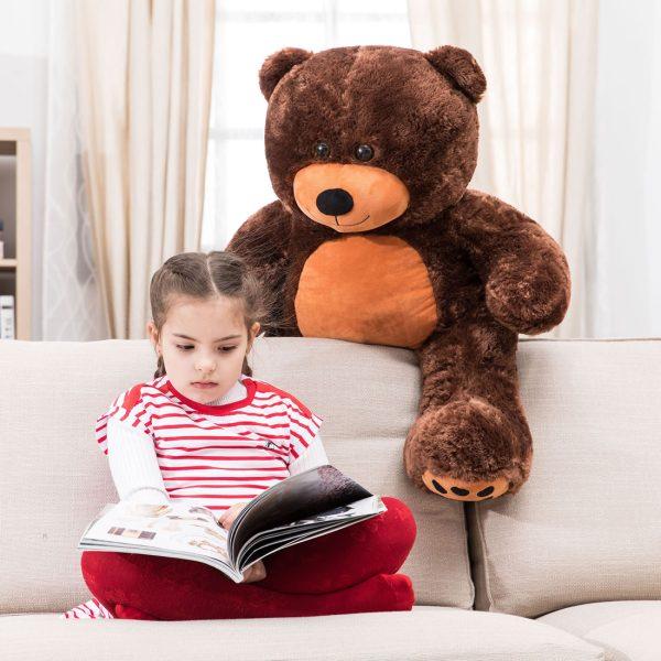 Daney teddy bear 3foot dark brown 004