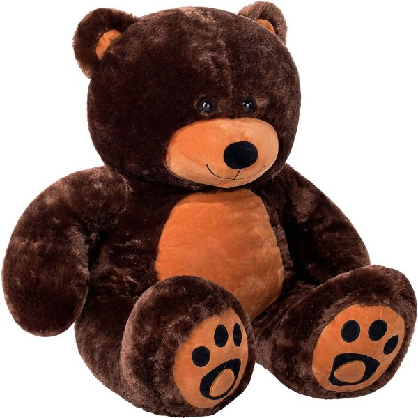 Daney teddy bear 3foot dark brown 012