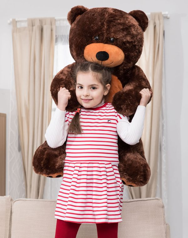 Daney teddy bear 3foot dark brown 022