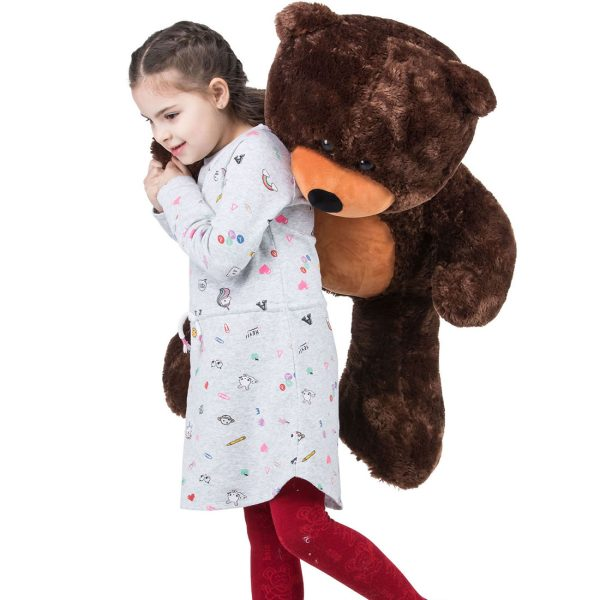 Daney teddy bear 3foot dark brown 023