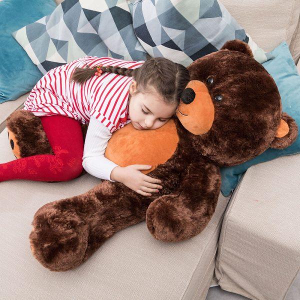 Daney teddy bear 3foot dark brown 024