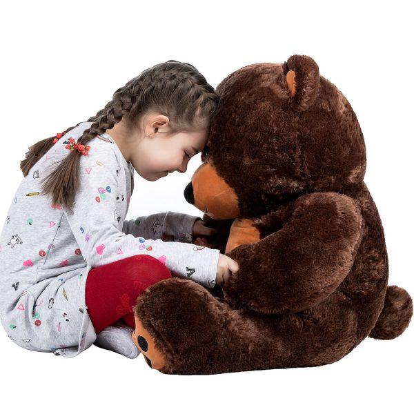 Daney teddy bear 3foot dark brown 025