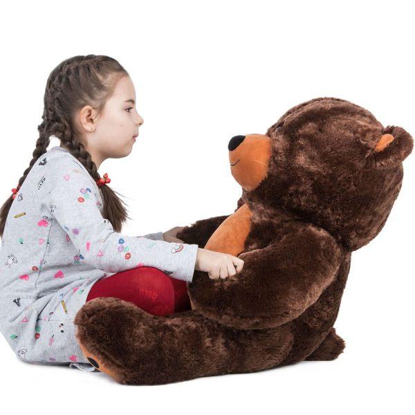 Daney teddy bear 3foot dark brown 026