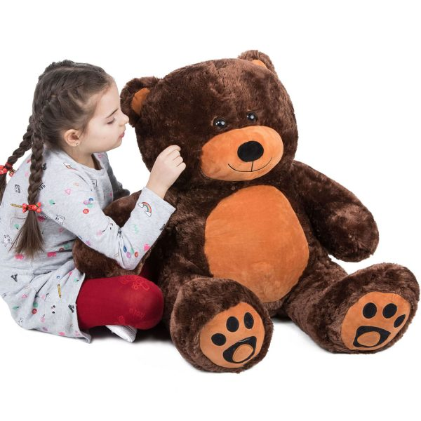 Daney teddy bear 3foot dark brown 027