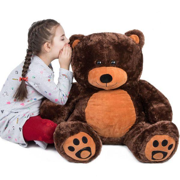 Daney teddy bear 3foot dark brown 028
