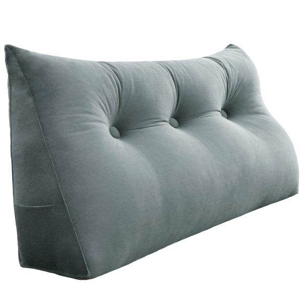 Wedge pillow 39inch Gray 01