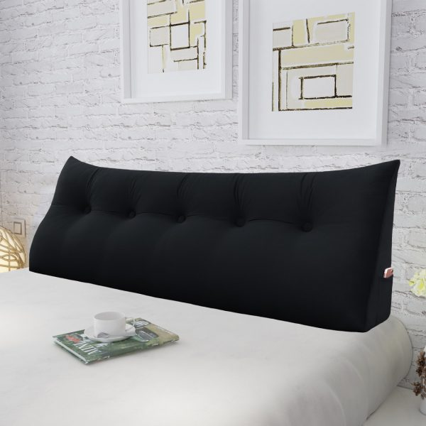 Wedge pillow 59inch Black 04