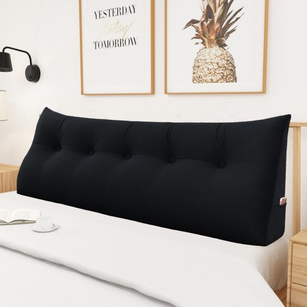 Wedge pillow 59inch Black 05