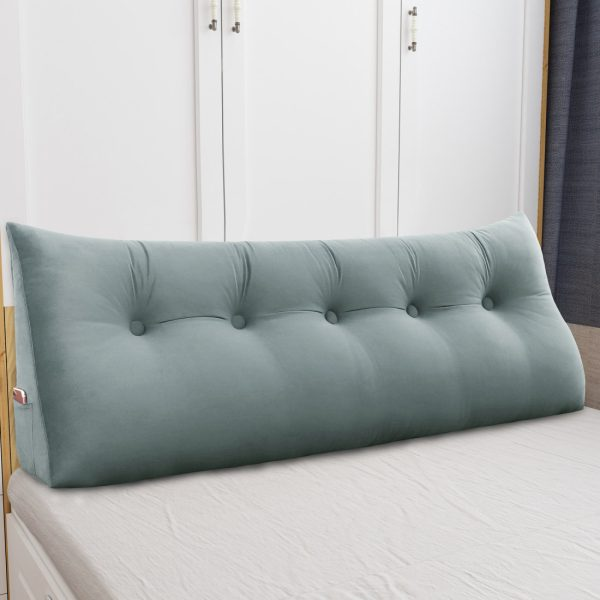 Wedge pillow 59inch Gray 02