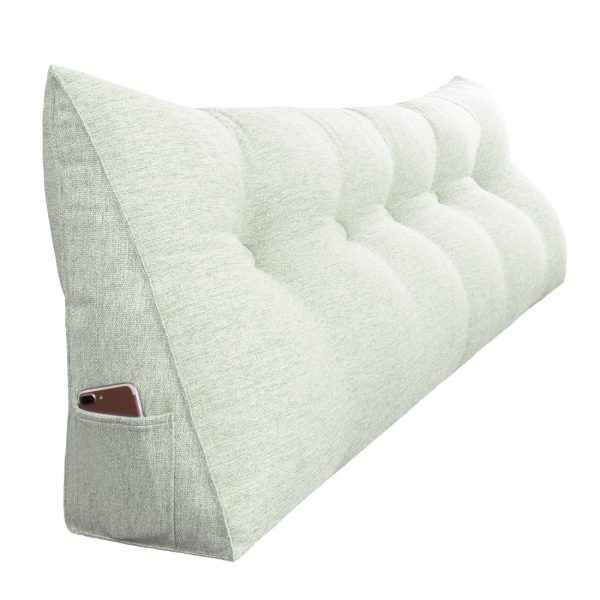 Wedge pillow 59inch ivory 07
