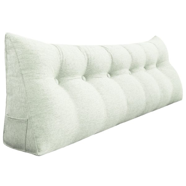 Wedge pillow 71inch ivory 01