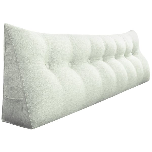Wedge pillow 76inch ivory 01
