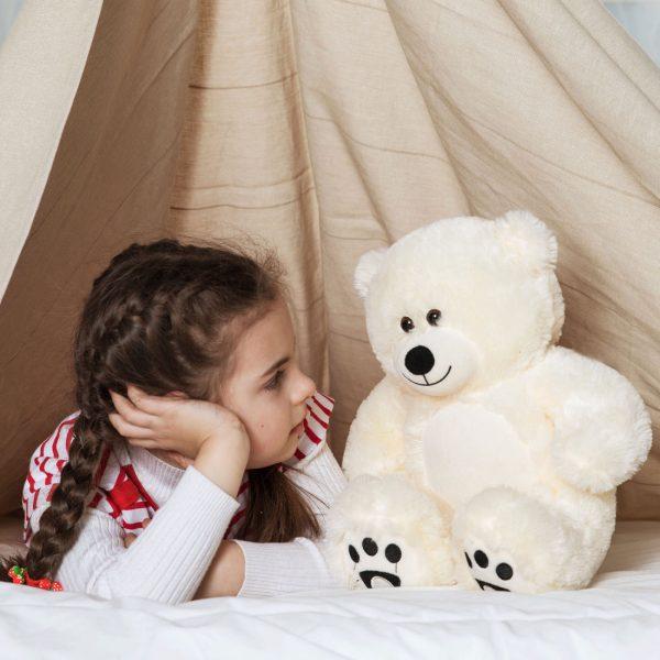 Daney teddy bear 25 white 001