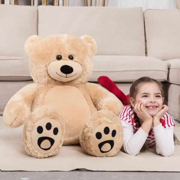 Daney teddy bear 3foot light brown 001