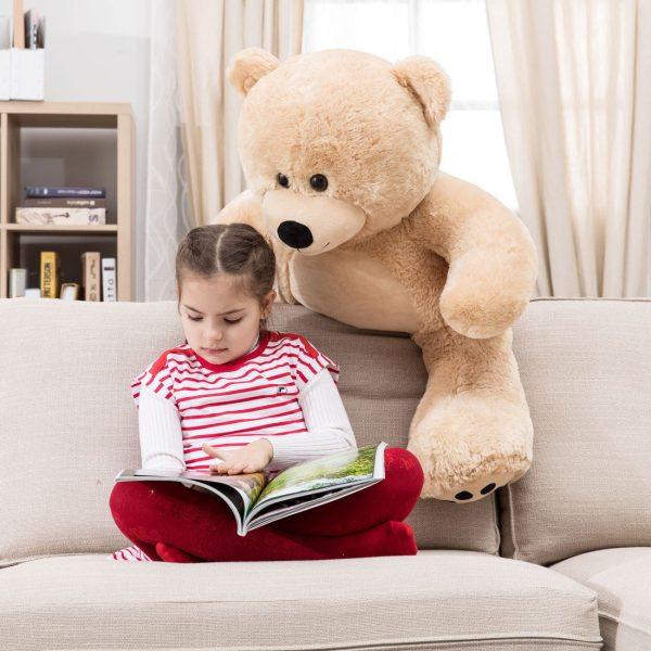 Daney teddy bear 3foot light brown 002