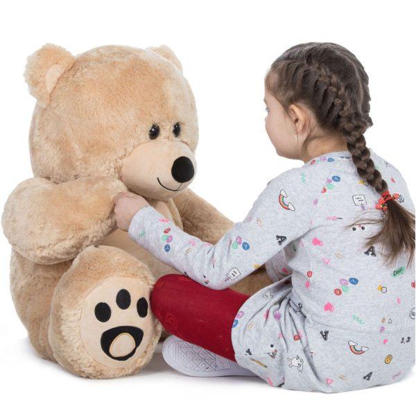 Daney teddy bear 3foot light brown 004