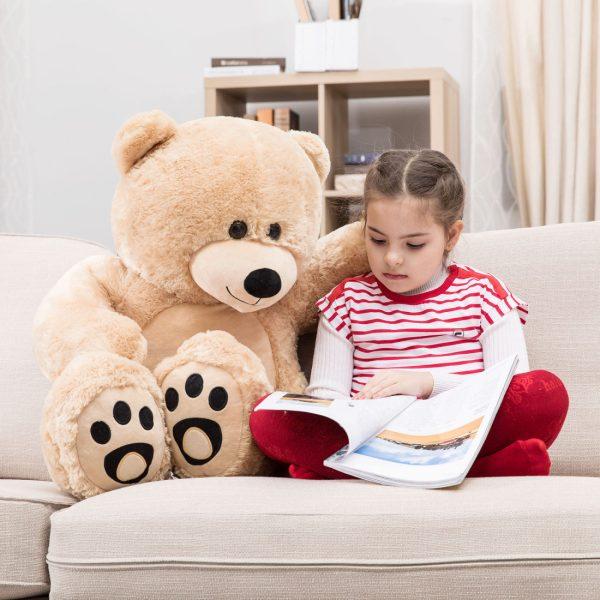Daney teddy bear 3foot light brown 011