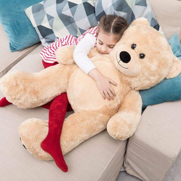 Daney teddy bear 3foot light brown 012