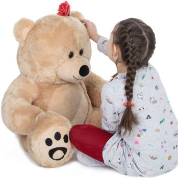 Daney teddy bear 3foot light brown 029