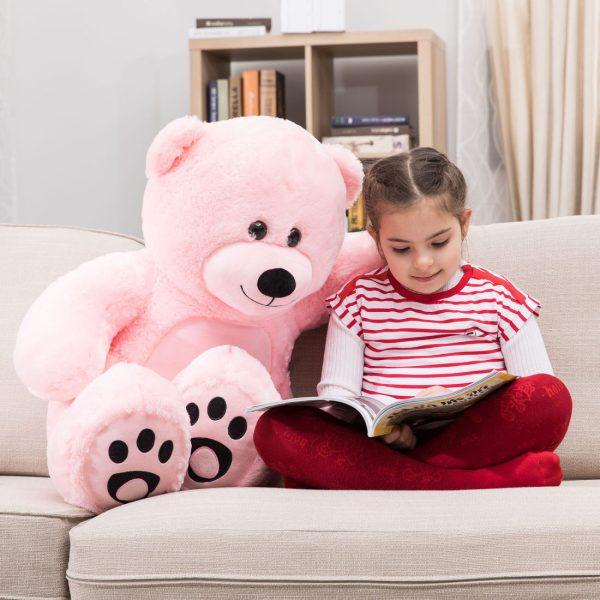 Daney teddy bear 3foot pink 002