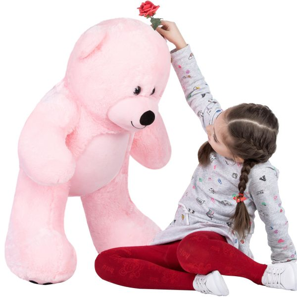 Daney teddy bear 3foot pink 004