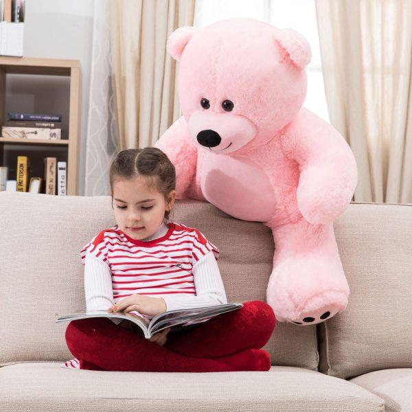 Daney teddy bear 3foot pink 006