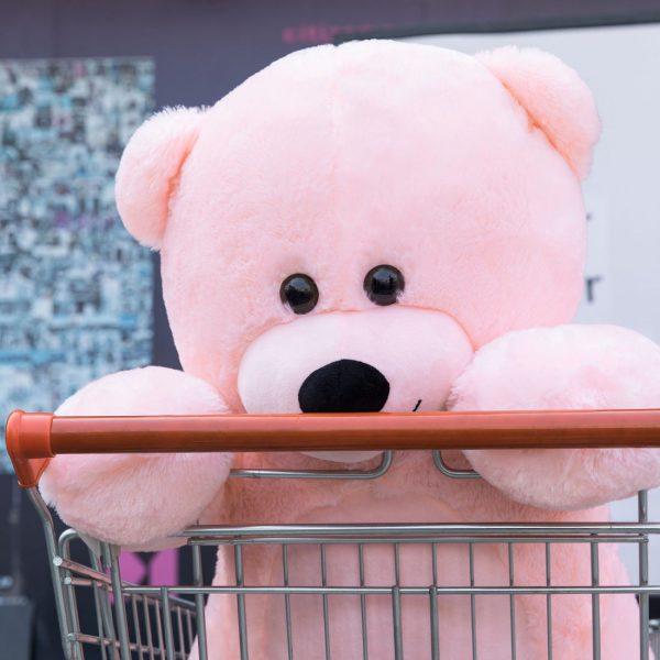 Daney teddy bear 3foot pink 009